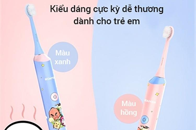 Bàn chải máy dành cho trẻ em ROAMAN ST-031 với kiểu dáng nhỏ gọn dễ thương thu hút trẻ đánh răng